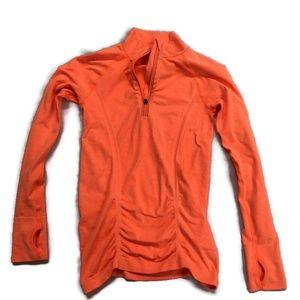Athleta 1/4 Zip Front Sleeve Athletic Shirt Top